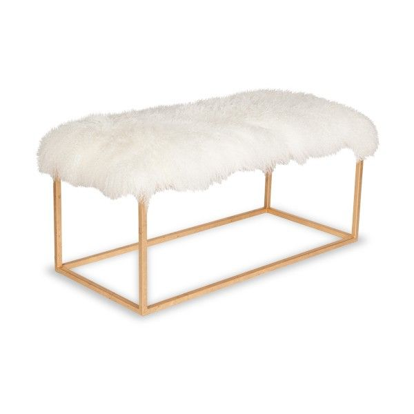 BLOCK MONGOLIAN SHEEPSKIN BENCH   SKU: MStudio BlockBench   Moss Studio |  Free Shipping. Unique FurnitureBenchesCloudHollywood ... Great Pictures