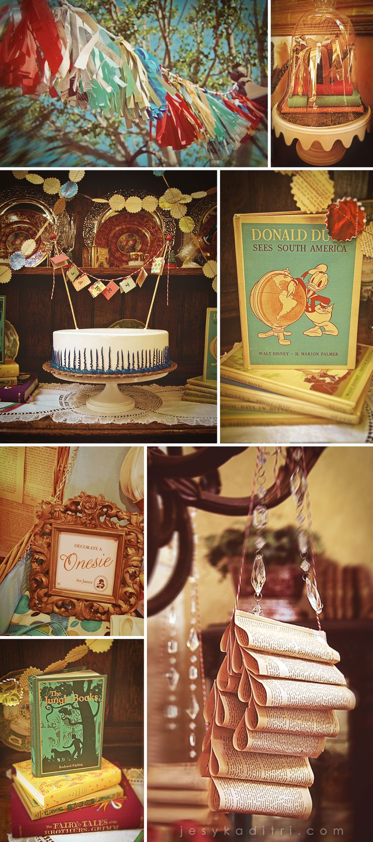 Vintage Library baby shower.  Nothing to say besides I DIE.  And the vintage books--drooling!