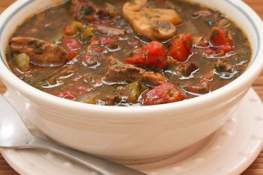 Leftover Roast Beef Italian Stew, a Phase One Recipe from Kalyn's Kitchen