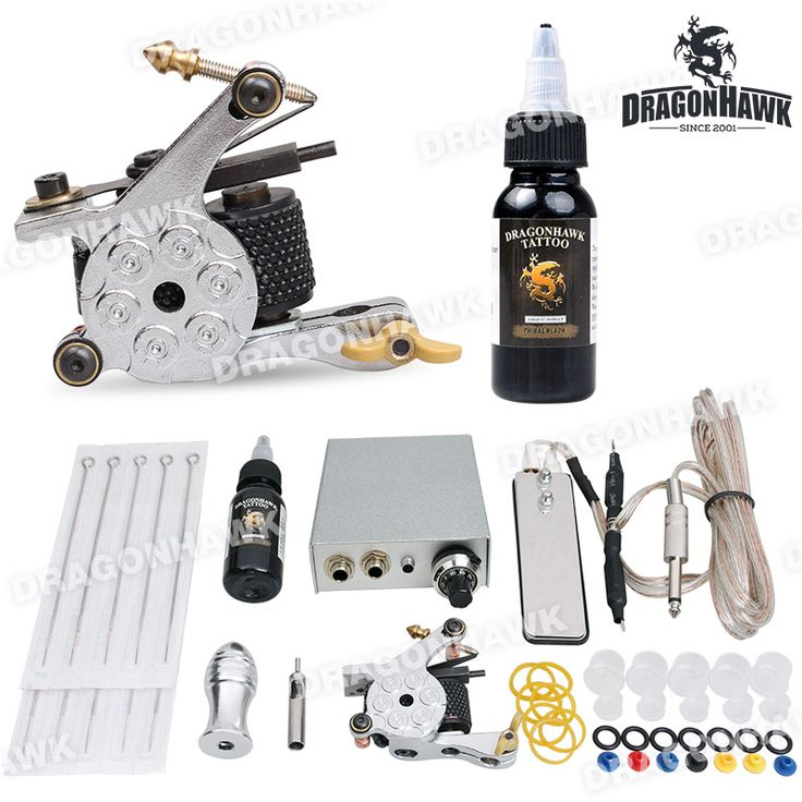 Beginner Tattoo Kit 1 Machine Gun Power Supply 10 Needles 1 Ink [DIY-283(1)] - US$18.99 : Dragonhawk tattoo supplies, tattoo kits,tattoo machines for sale global form tattoodiy.com