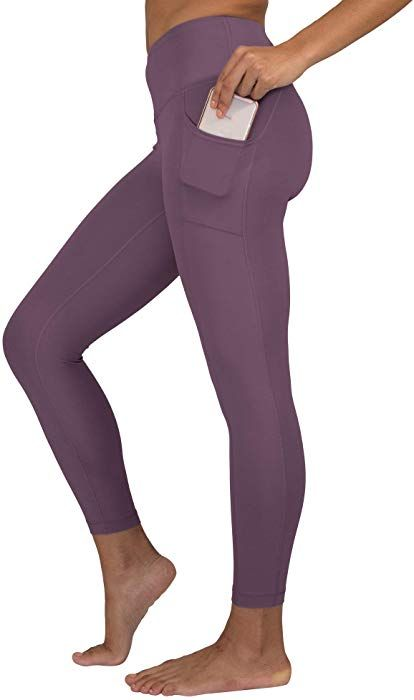 19480ae355bee6 90 Degree By Reflex High Waist Tummy Control Interlink Squat Proof Ankle  Length Leggings - Cuban Orchid - Small at Amazon Women's Clothing store: