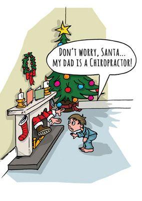 Non preoccuparti, Babbo... mio padre è un chiropratico! #chiropratica_pescara                                                                                                                                                      More
