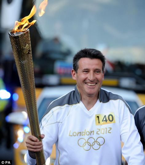 Lord Sebastian Coe, CH KBE, with the Olympic Torch in Sheffield. www.welcometosheffield.co.uk/visit