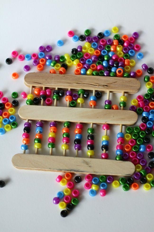 Fun with #math - Make an Abacus! - http://kidsactivitiesblog.com/46083/make-an-abacus