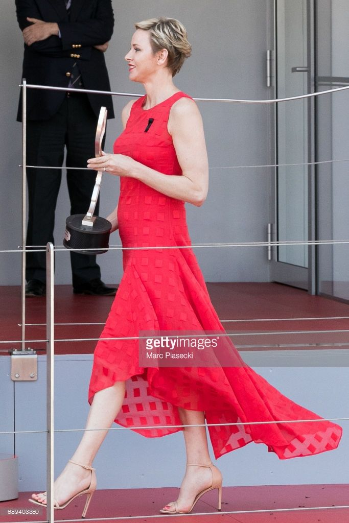Princess Charlene of Monaco attends the Monaco Formula 1 Grand Prix at the Monaco street circuit, on May 28, 2017 in Monaco.  (Photo by Marc Piasecki/WireImage)