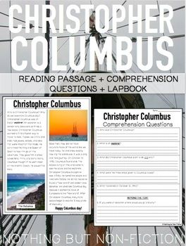 This pack includes a: - Reading passage on Christopher Columbus - Comprehension page option - Lapbook option- it contains 3 comprehension questions and a fact sheet. Love this product? Check out our Federal Holidays Pack which includes 10 National Holidays! Federal Holidays Reading Passages