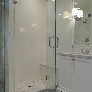 Hexagon Shower Floor, Transitional, bathroom, Kelly Baron