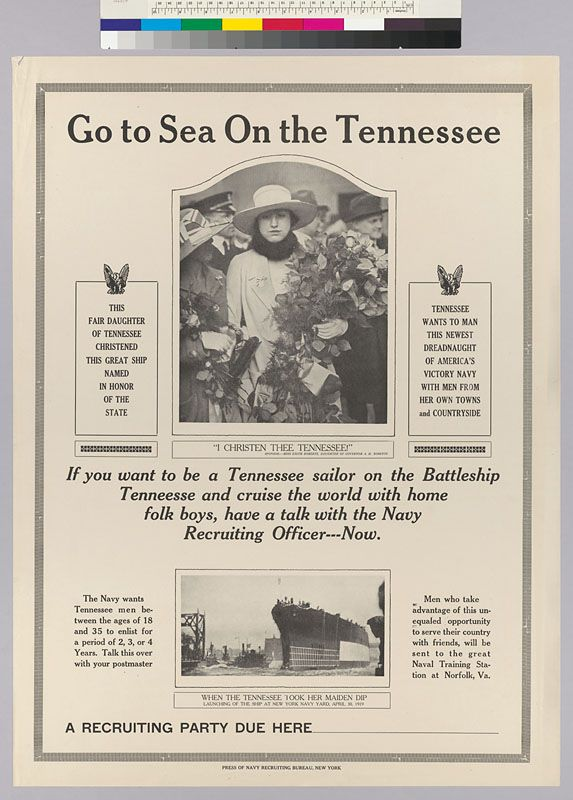 Go To Sea On The Tennessee Creator/Contributor: Press of Navy Recruiting Bureau…
