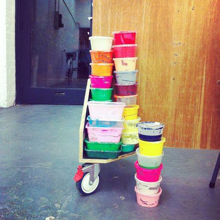 paint buckets of Kirra Jamison via Beci Orpin
