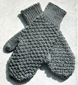 Mittens | Medium Size | Free Knitting Patterns---I have made these and they fit great.