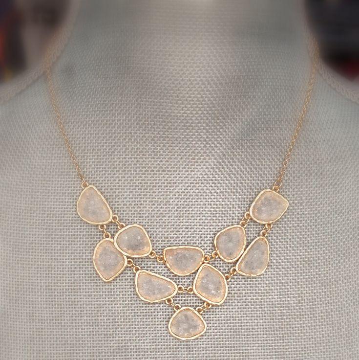Druzy Necklace - Druzy Statement Necklace - Bridesmaid Statement Necklace