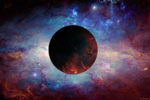 czerwony planety, przestrzeń