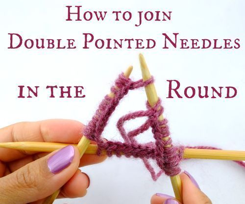 Knitting In The Round Double Pointed Needles Joining : Crafts to create by janetbarclay diy and ideas