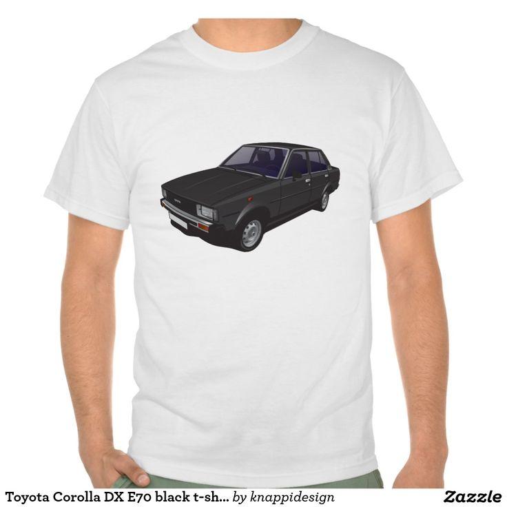 Toyota Corolla DX E70 black t-shirt  #toyota #corolla #toyotacorolla #corolladx #80s #automobile #car #auto #bil #tshirt #tshirts #tpaidat
