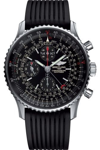 BREITLING Navitimer 1884 Chronograph Automatic 46mm Limited Edition Stainless Steel Rubber Strap A2135024/BE62