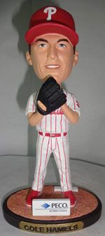 It's a PECO Cole Hamels Bobble Figurine giveaway for all fans during the Wednesday, August 21, Phillies vs. Rockies game at 7:05 p.m.