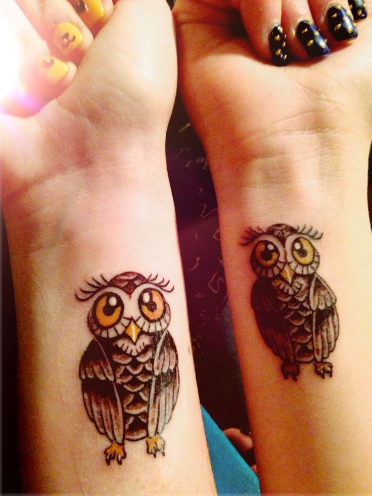 Owl tattoo on wrist, Bff tattoo! ️ | Tats | Pinterest ...