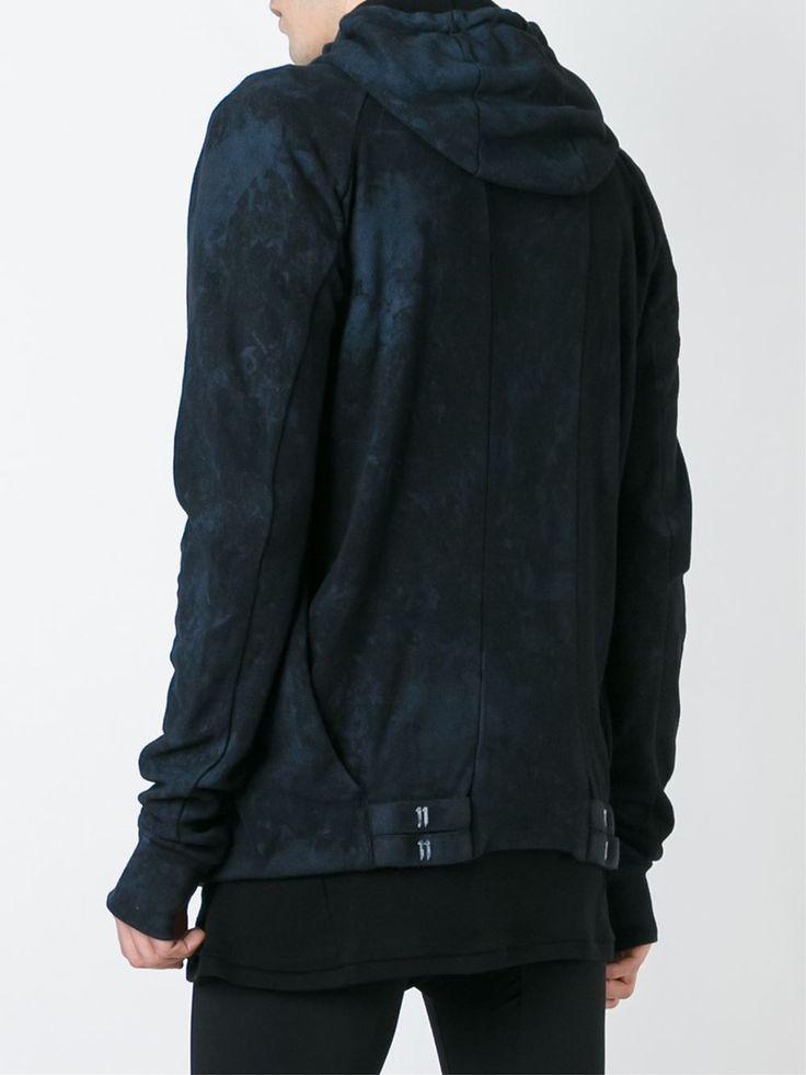 11 By Boris Bidjan Saberi bleach effect hoodie