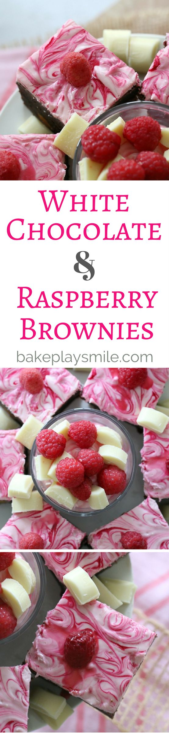The very BEST White Chocolate & Raspberry Brownies!!!!!!!!!!!! Classic chewy and decadent white chocolate & raspberry brownies that are so simple to make… and are completely addictive. You won't be able to resist those big white chocolate chunks or tangy raspberries! #whitechocolate #raspberry #brownies #baking #easy #frosted #recipe #chocolate #conventional #thermomix