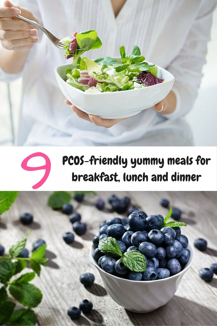PCOS diet plan: 9 yummy PCOS-friendly meals for breakfast, lunch and dinner. This collection of healthy recipes conforms to the principles of a most effective diet for treating PCOS.