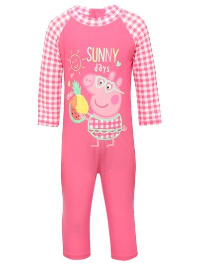 Pegga Pig swim safe all in one suit
