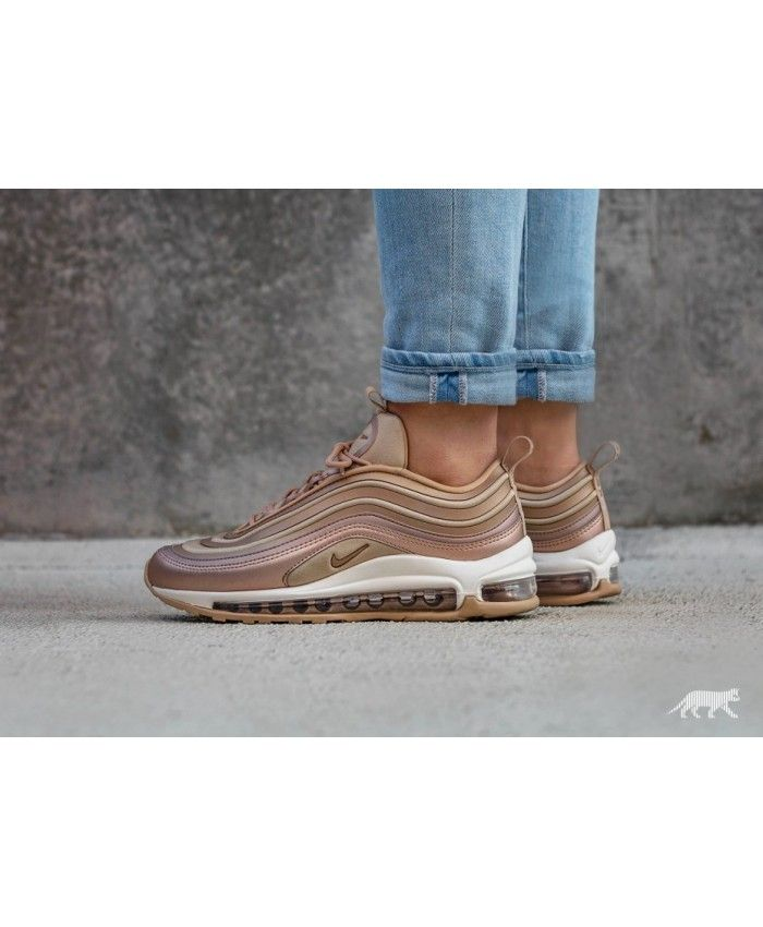 287cd9594d9ab Nike Wmns Air Max 97 Ultra 17 Metallic Red Bronze Elm Summit White Trainers