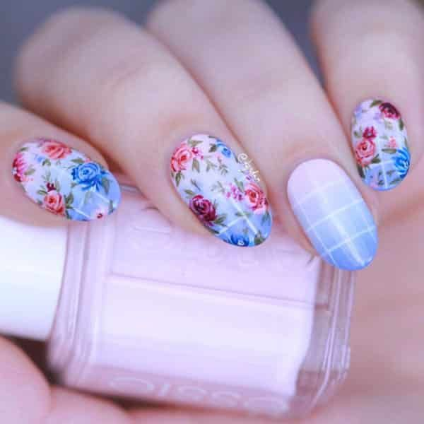 26 best pretty feminine nails images on pinterest cute nails gingham and floral nail art by kgrdnr see the full nail art gallery at prinsesfo Image collections