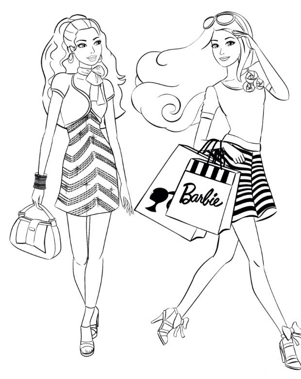 375 best Värityskuvat Barbie images on Pinterest | Barbie coloring ...