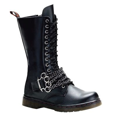 Demonia DISORDER-301 Gothic Men's Combat Boots - Demonia Shoes