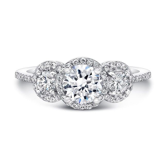 17 Best Ideas About Side Stone Engagement Rings On