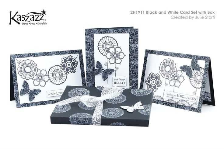 2H1911 Black and White Card Set with Box