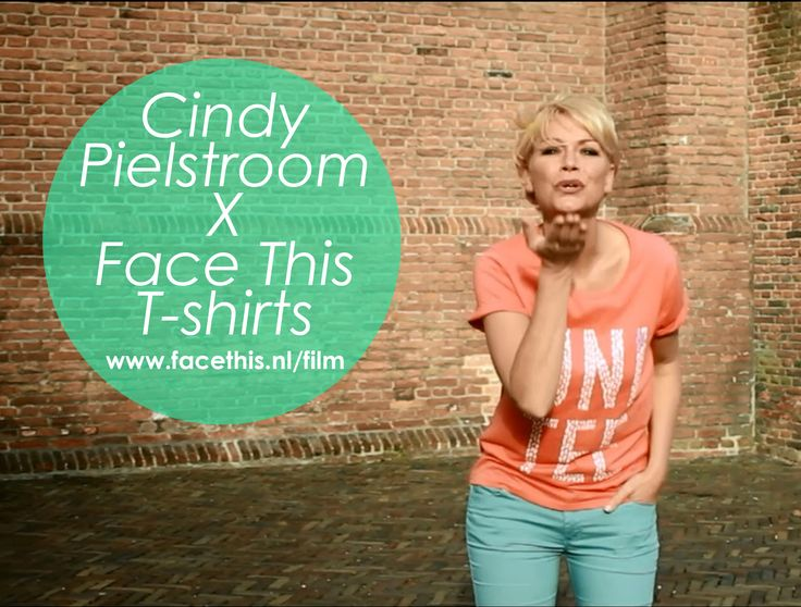 Cindy Pielstroom posing in a Face This tee