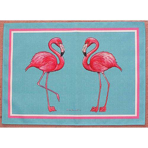 Try these fun Pink Flamingos placemats at your next beach party!