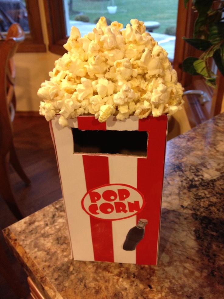 Movie theater popcorn Valentine box