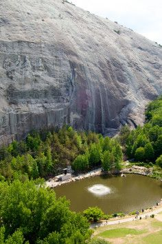 Stone Mountain Park - The largest relief carving in the world... with an unsavory history