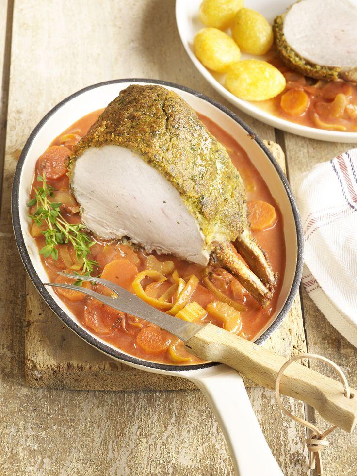 Recepten - Varkenskroontje met kruidenkorst