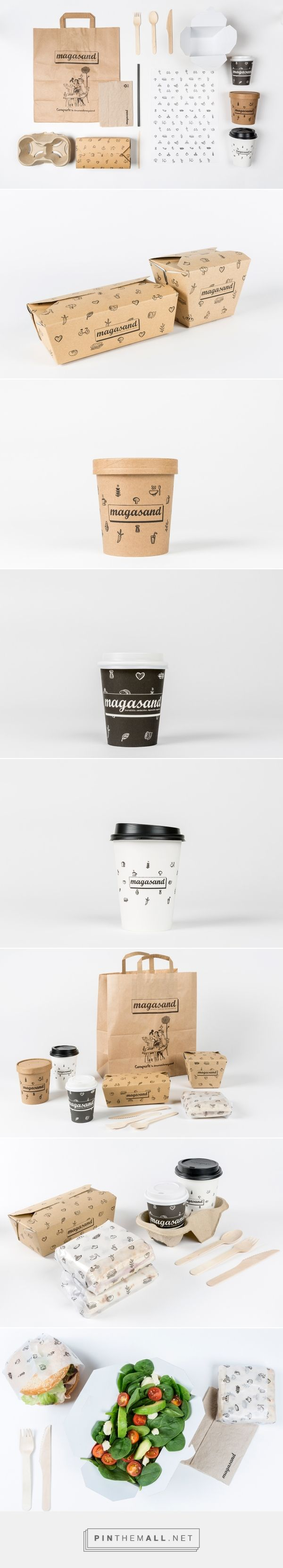 Magasand branding, packaging and Illustration on Behance by Mo Kalache, Madrid Spain curated by Packaging Diva PD.  Consisted of rebranding the logo and introducing hand-drawn patterns printed on recycled material to reflect the homey and eco friendly concept of Magasand.
