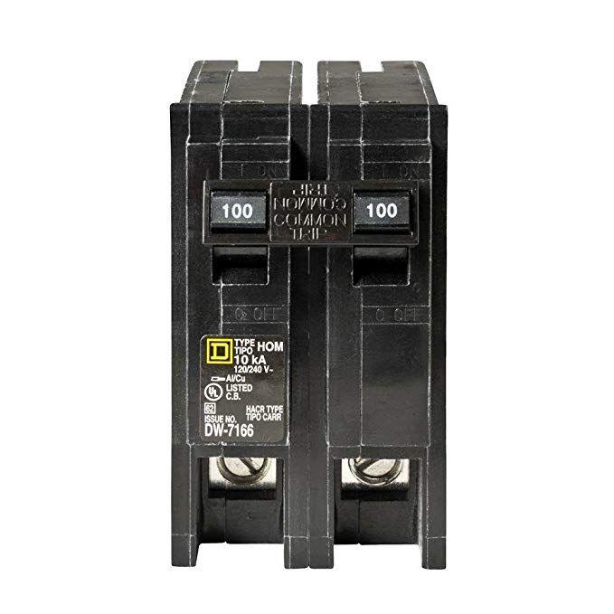Square D Homeline 100 Amp 2 Pole Circuit Breaker Review Circuit