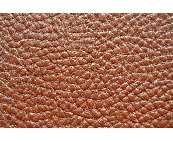 Tissu cuir ameublement gros grain - marron au mètre