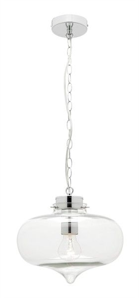 Imogen 1 light chain pendant with clear glass shade