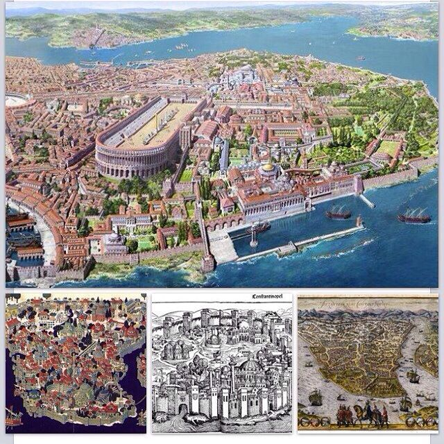 #Constantinople was the capitol city of the #Byzantine #Empire. It was founded at AD 330.