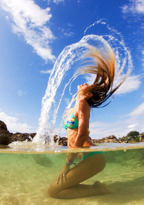 Water !!!Hair flip