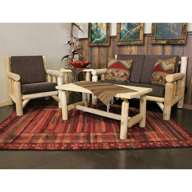 Lakeland Log Living Room Set Made In The USA Simple To Put Together And
