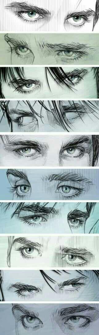 Kilian Jones. Captain hook. Eye drawing references.