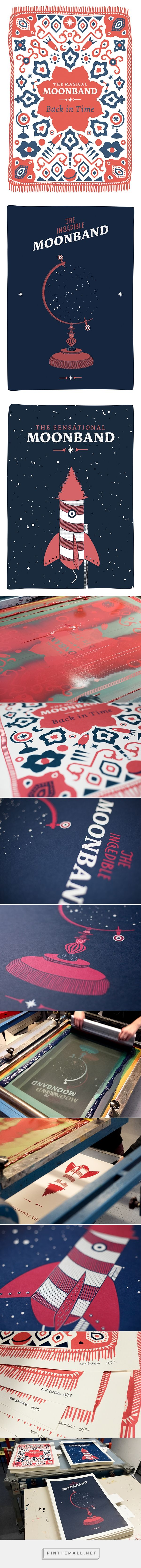 The Moonband - Screen Printed Gig Posters by Nina Bachman