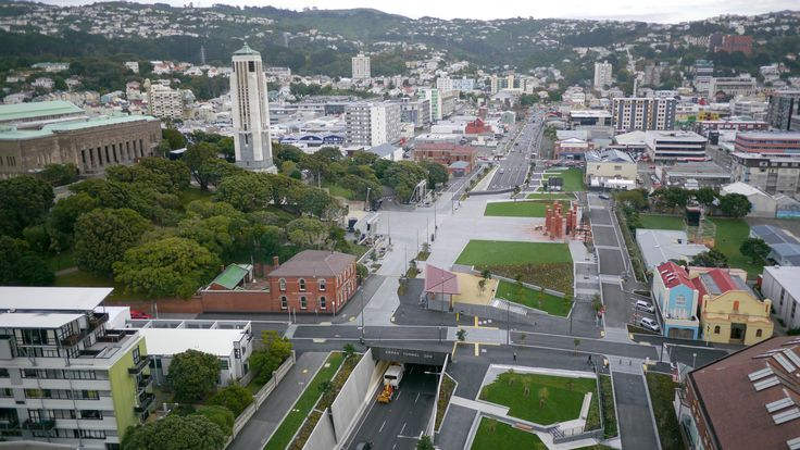An aerial image of Pukeahu National War Memorial Park in April 2015. Photo is courtesy of the Memorial Park Alliance.