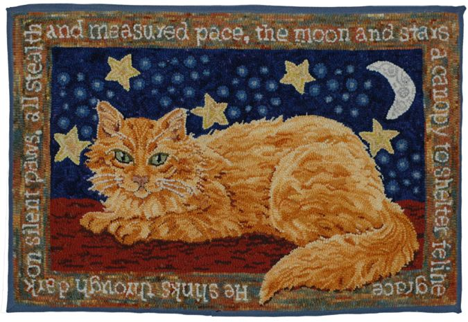 Art Fayre: Portrait of an Artist - Natalie Rowe -- Love this beautifully hooked long-haired Orange Tabby & the poem <3