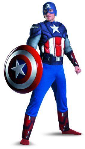 Marvel's Avengers Movie Captain America Classic Muscle Adult Costume #Marvels #Avengers #Movie #Captain #America #Classic #Muscle #Adult #Costume