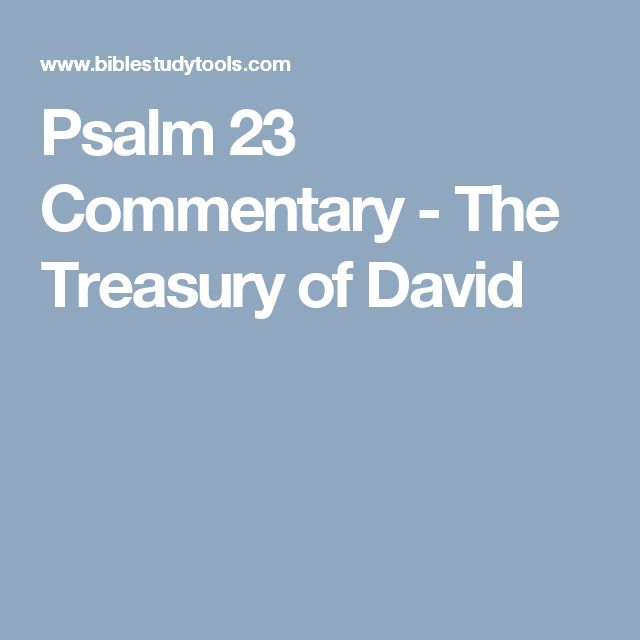 Psalm 23 Commentary - The Treasury of David
