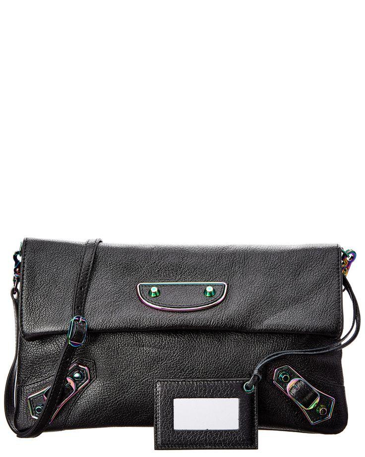 Spotted this Balenciaga Classic Iridescent Metallic Edge Envelope Strap Leather Clutch on Rue La La. Shop (quickly!).